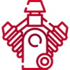 Red car engine icon