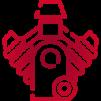 Ikona czerwonego silnika